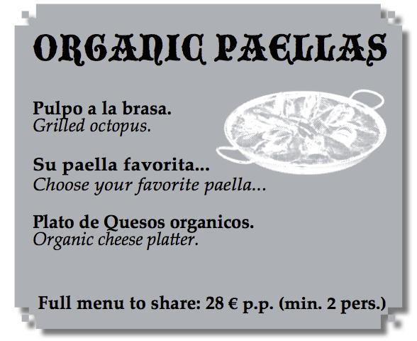 Organic restaurant in Marbella